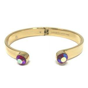 Kate Spade Forever Gems Pink AB Gold Bracelet